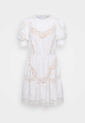EYELETS DRESS - Day dress - white