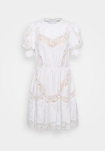 EYELETS DRESS