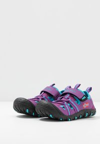 TrollKids - KIDS SANDEFJORD - Walking sandals - fuchsia/turquoise - 3