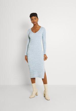 KOURTNEY V NECK - Jumper dress - turquoise/blue