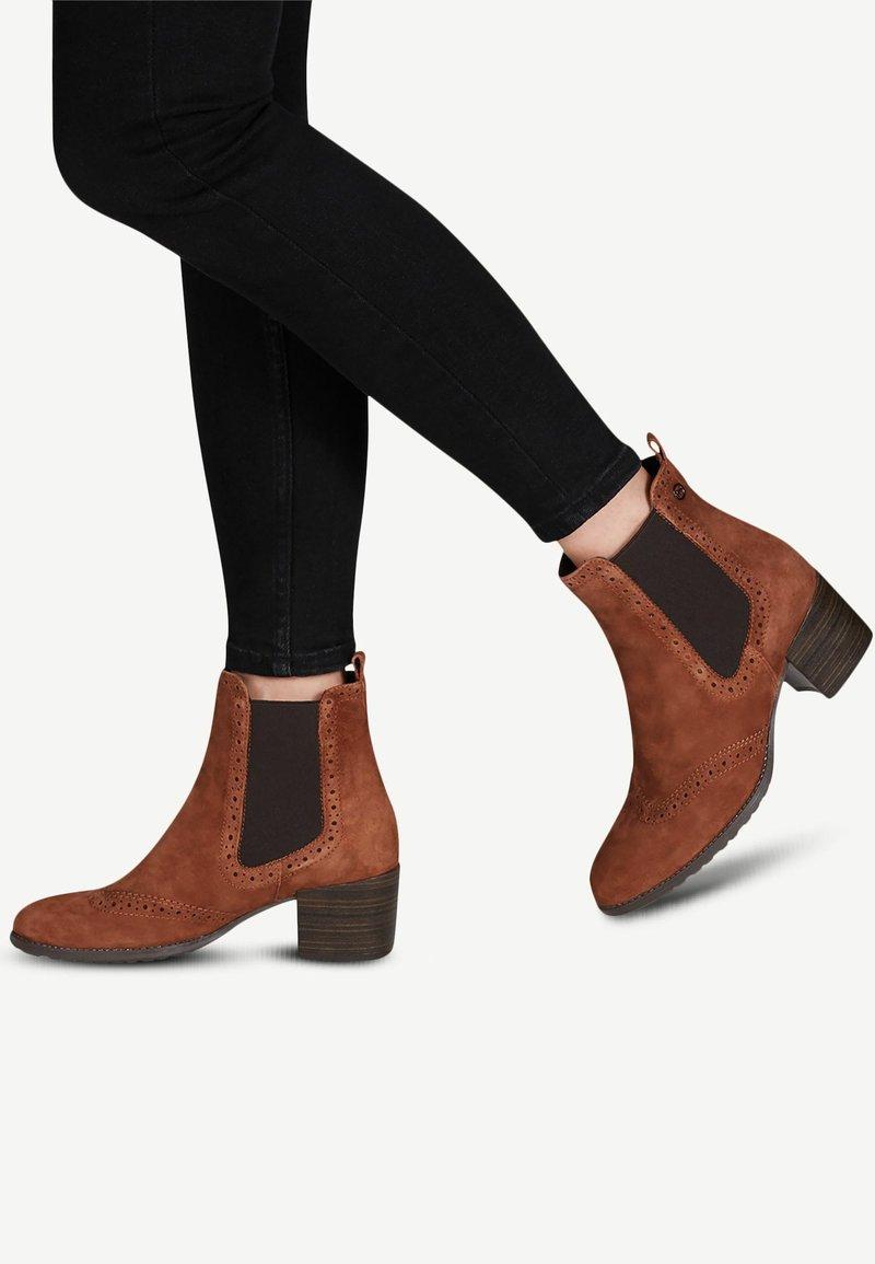 Tamaris - CHELSEA - Classic ankle boots - cognac