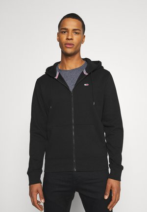REGULAR ZIP HOOD - veste en sweat zippée - black