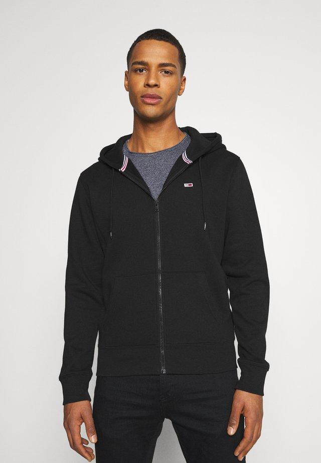 REGULAR ZIP HOOD - veste en sweat zippée - black
