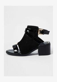 River Island - Ankle strap ballet pumps - black - 0