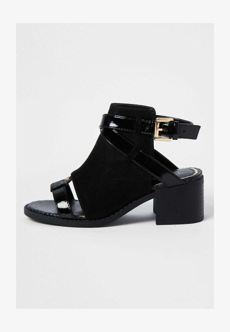 River Island - Ankle strap ballet pumps - black