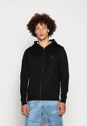 BRACE HOODY - Sweater met rits - black