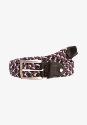 Braided belt - blau/rot