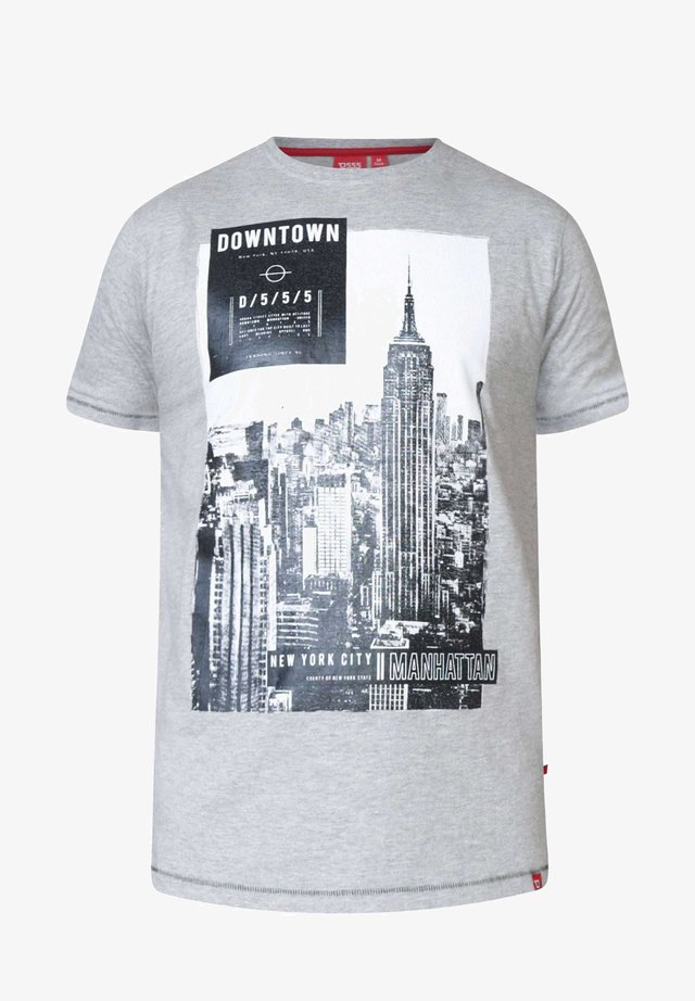 NEW YORK  - Print T-shirt - grey