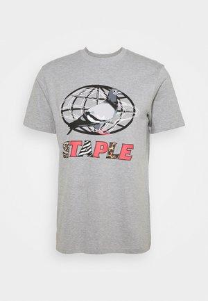 GLOBE LOGO TEE UNISEX - T-shirt print - grey