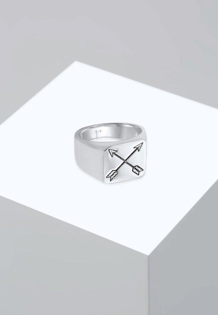 KUZZOI - MATT BASIC PFEIL - Ring - silver-coloured