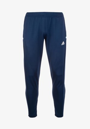 TEAM 19  - Tracksuit bottoms - navy blue/white