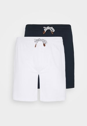 EXCLUSIVE 2 PACK - Shorts - navy/white