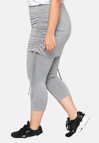 Sheego - Leggings - Trousers - mottled light grey - 3