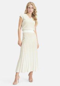 Nicowa - A-line skirt - wei㟠- 1