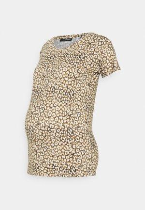 TEE LEOPARD - Print T-shirt - dull gold