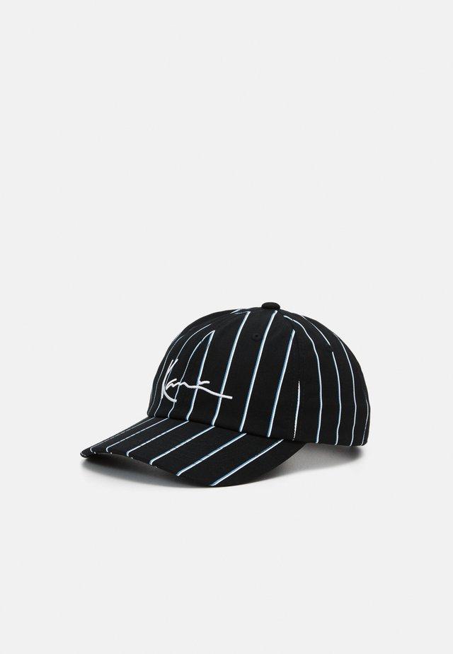 SIGNATURE PINSTRIPE UNISEX - Cap - black