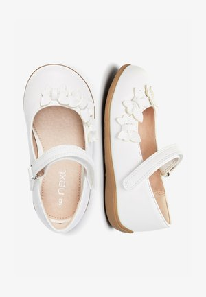 WHITE BUTTERFLY MARY JANE SHOES (YOUNGER) - Ankle strap ballet pumps - white