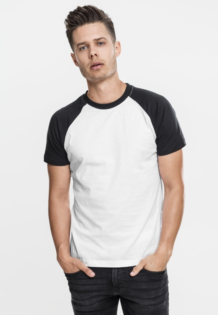 Urban Classics - RAGLAN CONTRAST  - T-shirts print - white/black