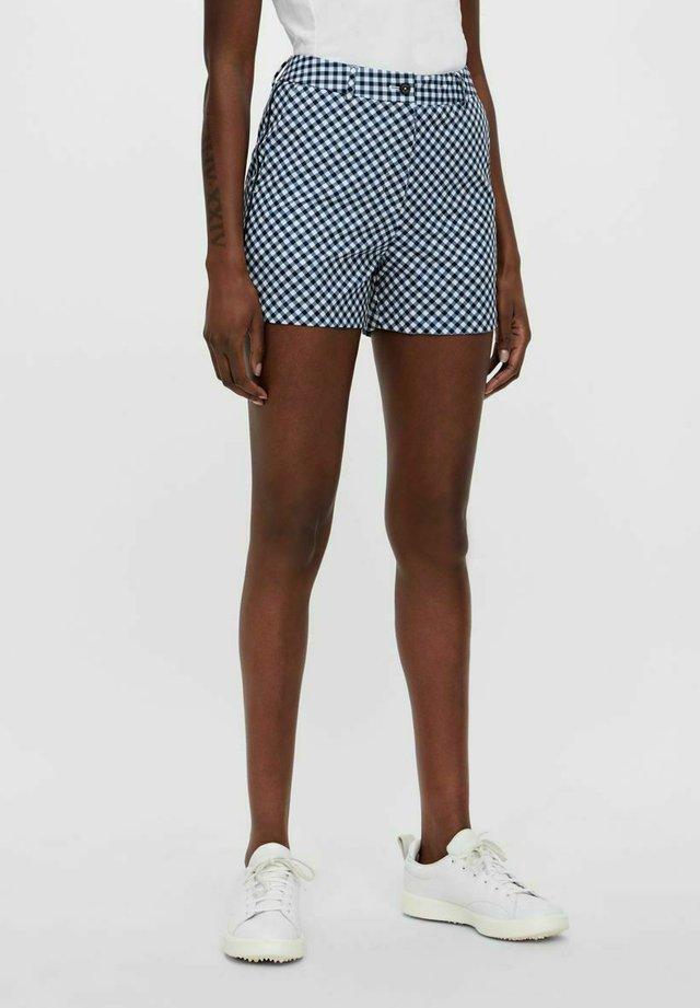 GWEN - Pantaloncini sportivi - gingham navy white