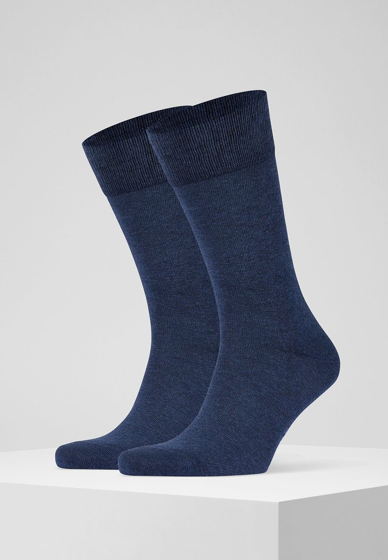 FALKE - HAPPY 2-PACK - Socks - mottled blue