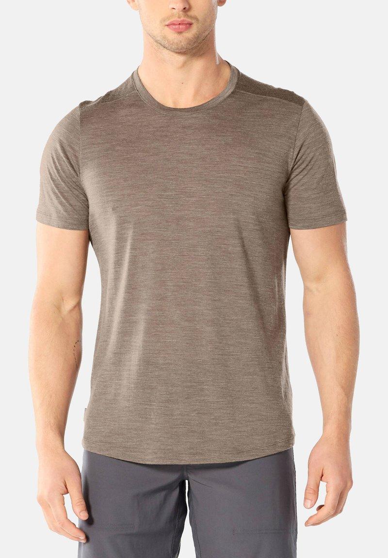 Icebreaker - MENS SPHERE CREWE - Basic T-shirt - brown