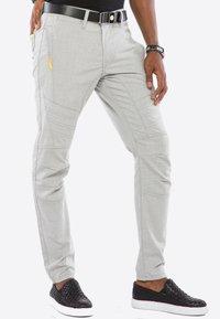 Cipo & Baxx - MIT ZIERNÄHTE - Trousers - grey - 4