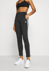 adidas Originals - PANTS - Træningsbukser - black/white - 0