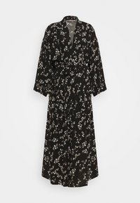 Anna Field - LISHA - LONG PRINTED ROBE  - Badjas - black/gold - 4