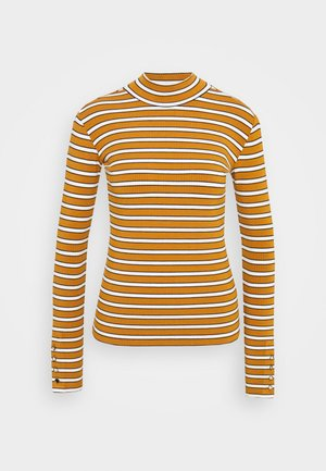 LONG SLEEVE WITH TURTLE NECK  - Long sleeved top - brown/yellow