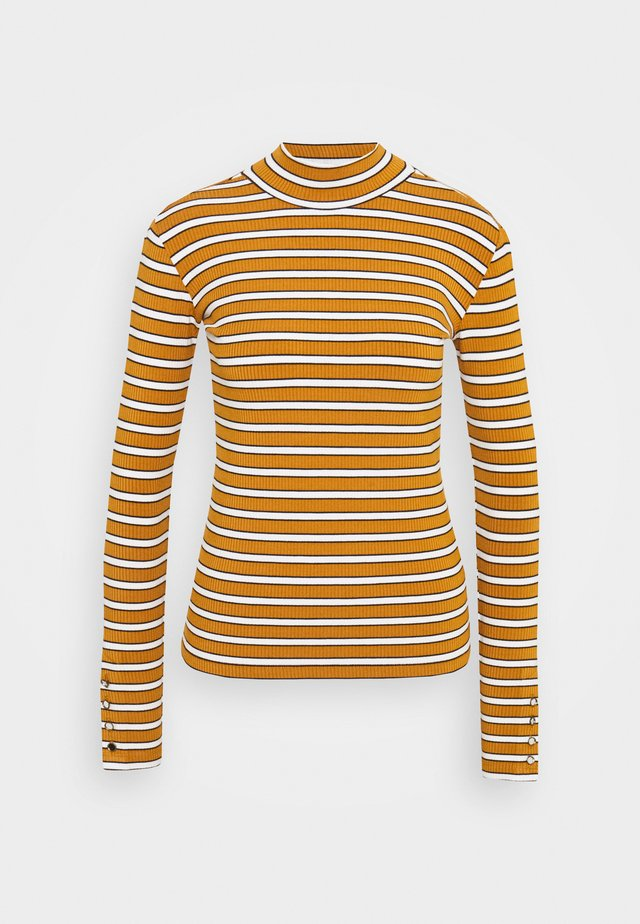 LONG SLEEVE WITH TURTLE NECK  - Camiseta de manga larga - brown/yellow