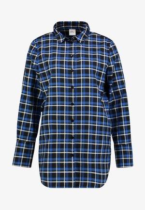 Button-down blouse - cobalt blue
