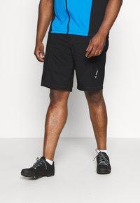 LÖFFLER - BIKE SHORTS COMFORT 2-IN-1 - Sports shorts - black/brilliant blue - 0