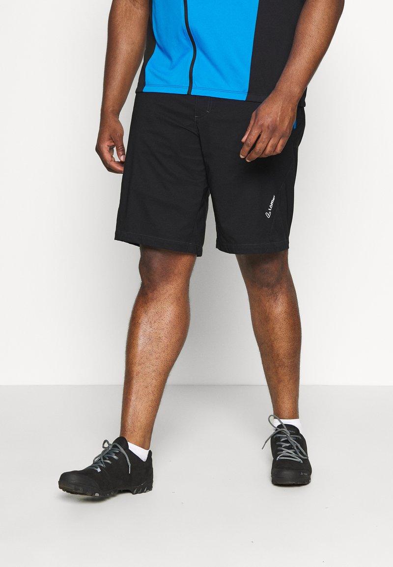 LÖFFLER - BIKE SHORTS COMFORT 2-IN-1 - Sports shorts - black/brilliant blue
