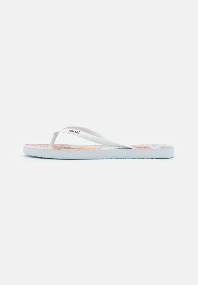 TALLOWS FLORAL - Chanclas de dedo - white