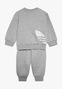 adidas Originals - BIG TREFOILCREW SET - Tuta - mid grey heather/white - 1