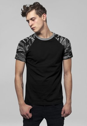 RAGLAN CONTRAST  - Print T-shirt - black/ grey