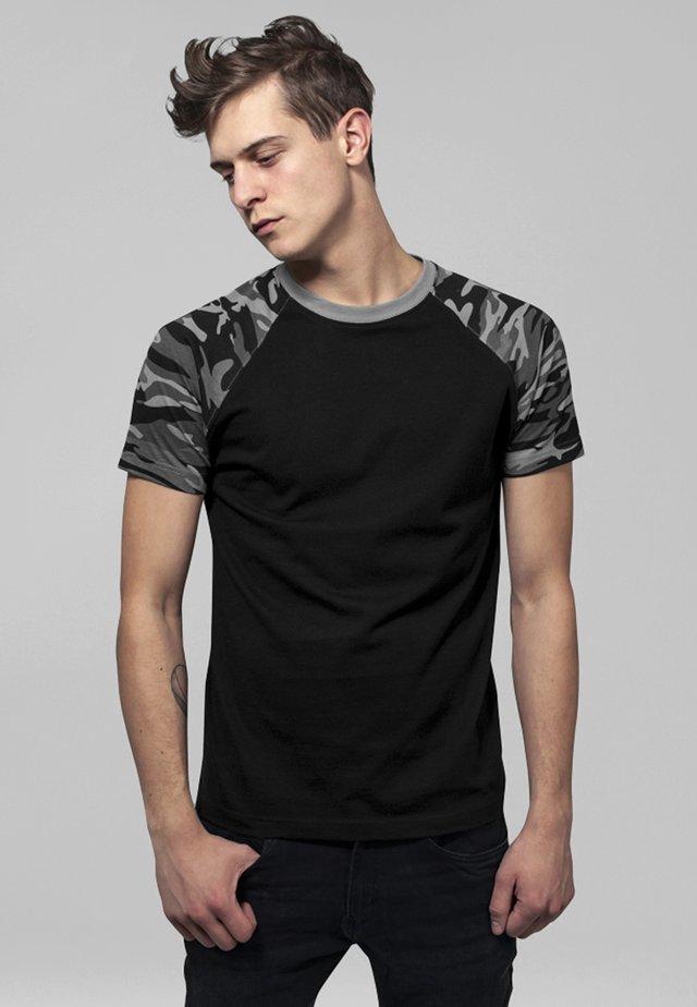 RAGLAN CONTRAST  - T-shirt print - black/ grey