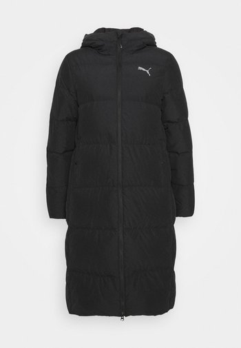 LONG OVERSIZED COAT - Down coat - black