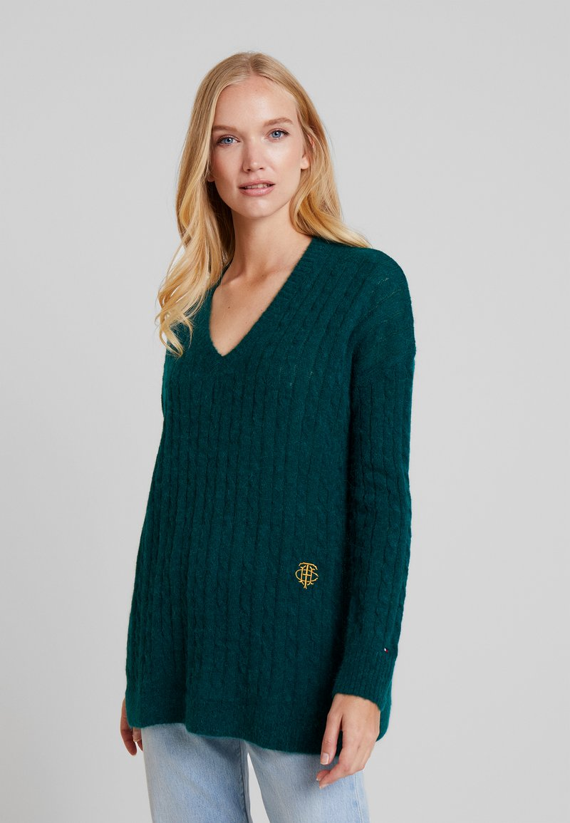 Tommy Hilfiger - ESSENTIAL CABLE - Maglione - green