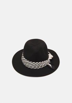 SCARF TRIM FEDORA UNISEX - Hat - black