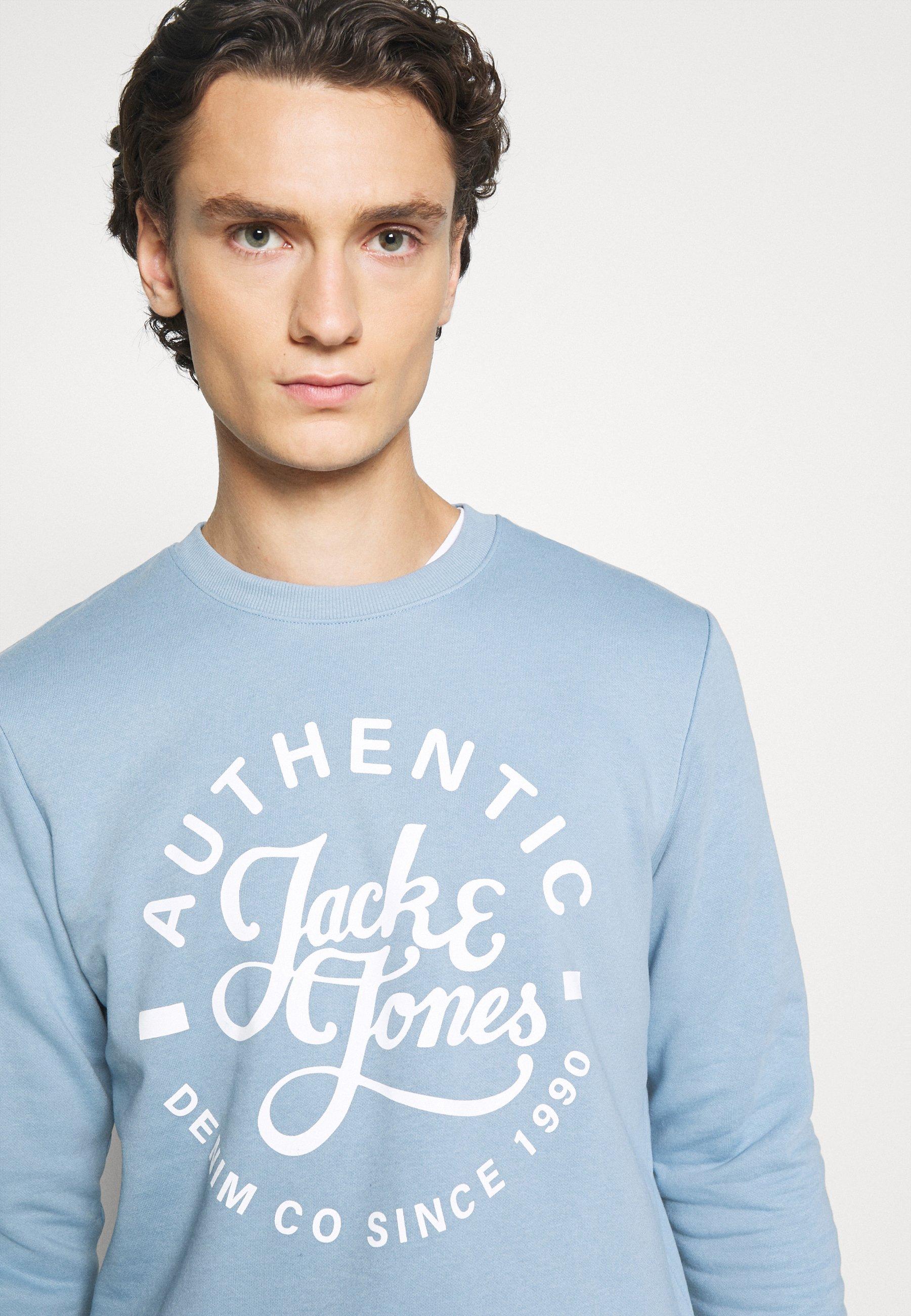 Jack & Jones Jjhero Crew Neck - Sweatshirt Faded Denim