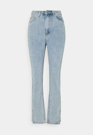 SIDE SPLIT HEM MOM - Straight leg jeans - blue