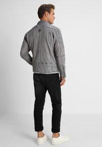 Freaky Nation - BEST BUDDY - Leather jacket - ash - 2