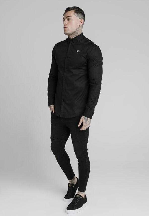 SIKSILK STANDARD COLLAR SHIRT - Koszula biznesowa - black/czarny Odzież Męska OTQI