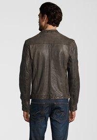Capitano - Leather jacket - grey - 2