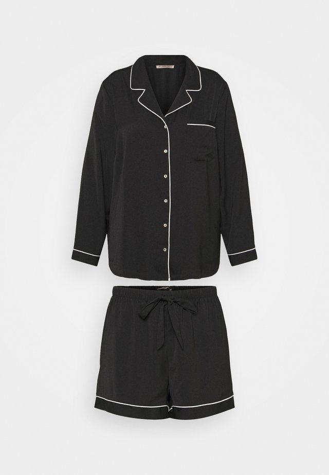 AMANDA SHORT SET  - Pyžamová sada - black