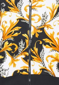 Versace - FELPA - Mikina na zip - black/gold - 2