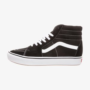 UA COMFYCUSH SK8-HI - High-top trainers - black / true white