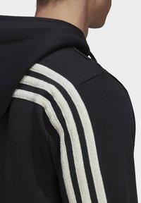 adidas Performance - WINTER 3-STRIPES FULL-ZIP HOODIE - Zip-up hoodie - black - 5