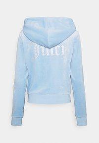 Juicy Couture - NUMERAL HOODIE - Zip-up sweatshirt - powder blue - 10